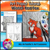 Winter Art Project, Red Fox in the Snow