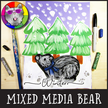 Winter Art Project, Bear in a Forest