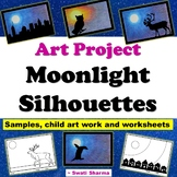 Winter Art Activity Moonlight Silhouettes, Distance Learning