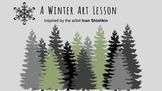 Winter Art Project, Snow, Bulletin Board, Art History, Feb
