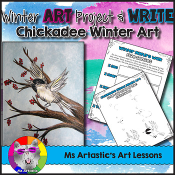 Winter Art Lesson and Nature Walk Writing Activities