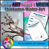 Winter Art Project and Journal Write: Chickadee Mixed Media Art