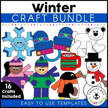 Winter & Arctic Animal Crafts Bundle