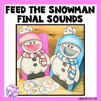 Winter Articulation Activity:  Final Sounds