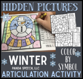 Winter Articulation Color by Symbol Hidden Images A Speech