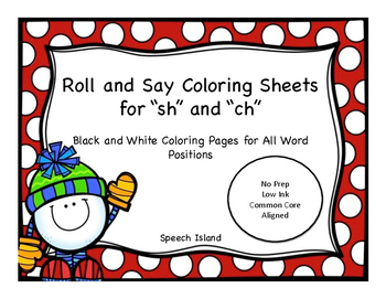 """Winter Articulation Coloring for """"sh"""" and """"ch"""""""