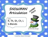 Winter Articulation Combo Pack - R, L, TH, SH, CH, S-blends Paper Saver