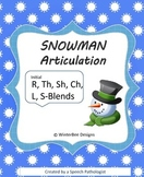 Winter Articulation Combo Pack - R, L, TH, SH, CH, S-blends FULL PAGE