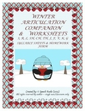 Winter Articulation Companion & Worksheets