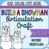 Winter Articulation Craft- Build a Snowman Bundle- No Prep Craft