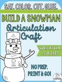 Winter Articulation Craft- Build a Snowman- Word initial s blends