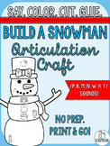 Winter Articulation Craft- Build a Snowman- early sounds