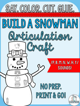 Winter Articulation Craft- Build a Snowman- early sounds