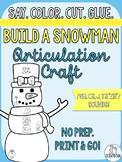 Winter Articulation Craft- Build a Snowman- sh, ch, j, th, 'zh' sounds
