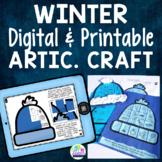 Winter Articulation Craft - Print & Go Speech Therapy Activity