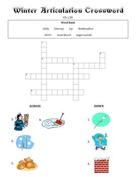 Winter Articulation Crosswords