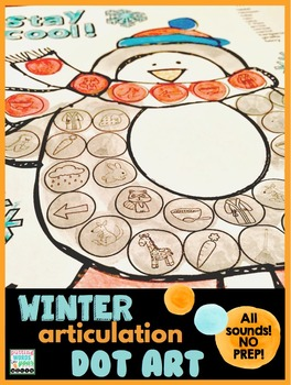 Winter Articulation Dot Art {all sounds & NO prep!}