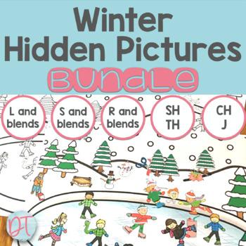 Winter Articulation Hidden Pictures BUNDLE