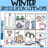 Winter Articulation Homework