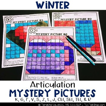 Winter: Articulation Mystery Pictures