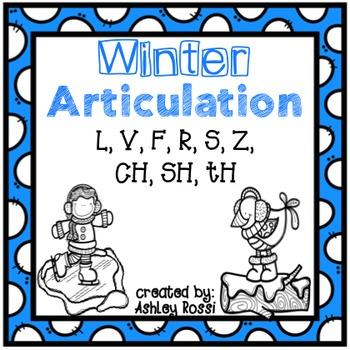 Winter Articulation - No Prep: Later Sounds