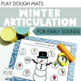Winter Articulation Play Dough Mats