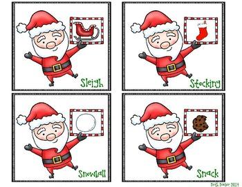 Winter Articulation Practice - Santa's Snappy S-Blends