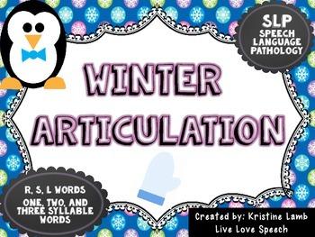Winter Articulation /R, S, L/
