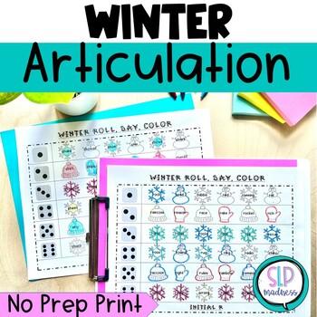 Winter NO PREP Articulation Roll Say Color - Sound Practic