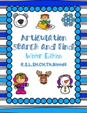 Winter Articulation Search and Find - R,S,L,Blends,SH,CH,TH