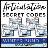 Winter Articulation Secret Codes BOOM Cards BUNDLE | Dista