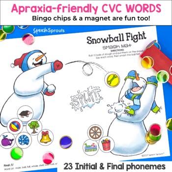 Winter Articulation Snowball Fight CVC Smash Mat Set