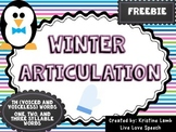 "Winter Articulation ""TH"" {FREEBIE}"