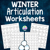 Winter Articulation Worksheets for 26 Sounds - Filled with Winter Themed Vocab!