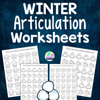 Winter Articulation Worksheets for Every Sound - Filled wi