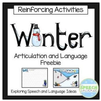Winter Articulation and Language No-Prep Freebie