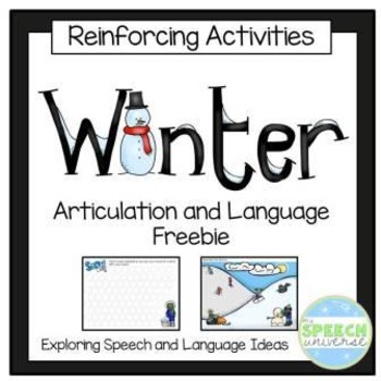 Winter Articulation and Language No-Prep Freebie
