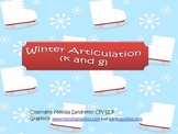 Winter Articulation /k/ and /g/