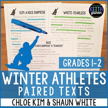 Winter Athletes Paired Texts: Chloe Kim and Shaun White (Grades 1-2)