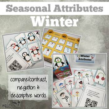 Winter Attributes Game: Compare/Contrast (includes a Cariboo option!)