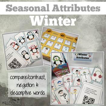 Attributes Game: Winter Compare/Contrast (includes a Cariboo option!)