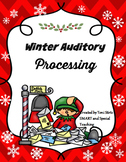 Winter  Speech Phonemic Awareness and Following Directions Games Pack