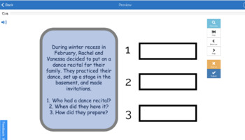 Winter Auditory Processing, WH Questions, Memory Recall Skills (20 Task Cards)