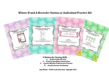 Winter BA Recorder Stations and Worksheets