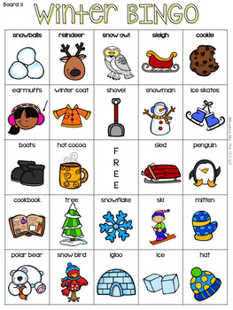 picture regarding Winter Bingo Cards Free Printable named Winter season BINGO Freebie
