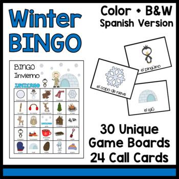 Winter BINGO [Spanish] El Invierno