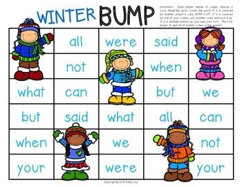 Winter BUMP - Sight Words