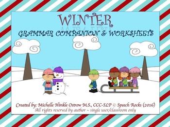 Winter BUNDLE ~ Articulation, Grammar, Vocabulary
