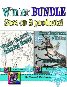 Winter Writing and Coloring Sheets