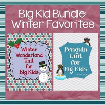 Penguins and Winter Wonderland: Winter BUNDLE for Big Kids